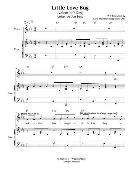 Download Little Love Bug (The Valentine\'s Day Song) Sheet Music By ...