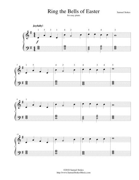 Ring the Bells of Easter - for easy piano