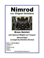Nimrod from Enigma Variations in D-flat Major for Brass Quintet and Optional Timpani