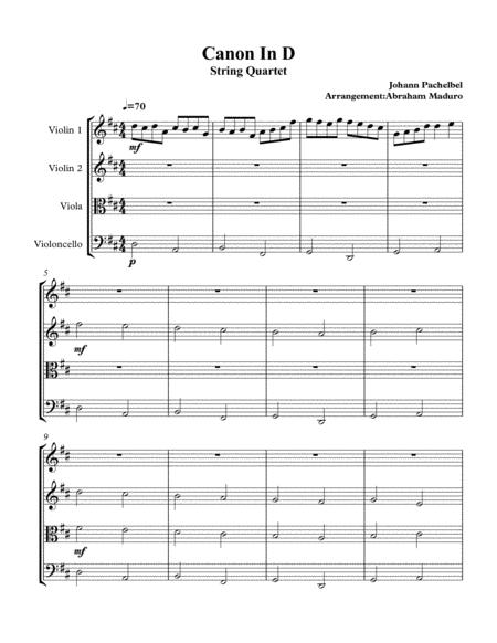 Canon In D String Quartet