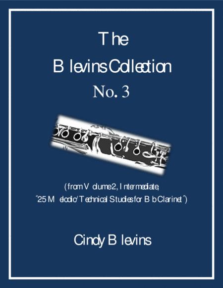 Intermediate Clarinet Study, # 3, from The Blevins Collection, Melodic/Technical Studies for Bb Clarinet