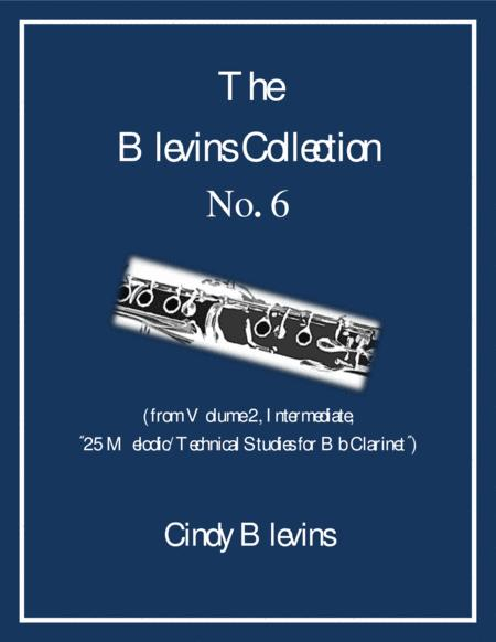 Intermediate Clarinet Study, # 6, from The Blevins Collection, Melodic/Technical Studies for Bb Clarinet
