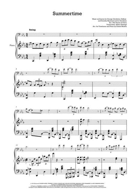 summertime jazz sheet music pdf