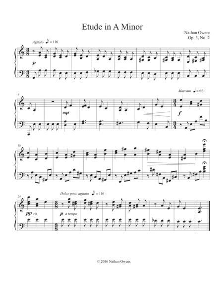 Piano Etude 2 in A Minor