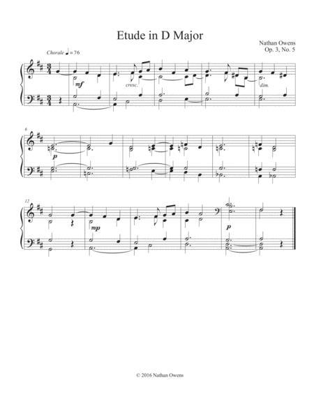 Piano Etude 5 in D Major