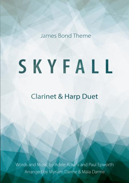 Skyfall - Adele for Clarinet in B and Harp (or Piano) Duet