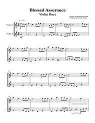 Blessed Assurance Violin Duet