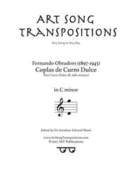 Coplas de Curro Dulce (C minor)