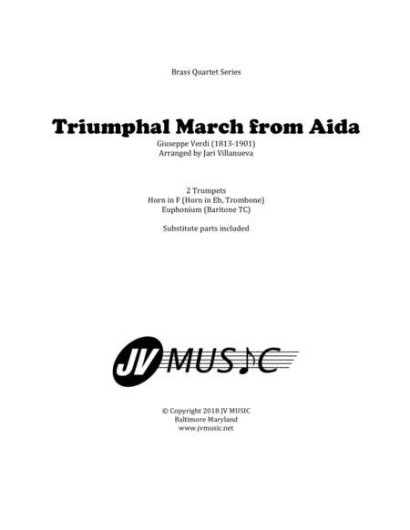 Triumphal March from Aida for Brass Quartet