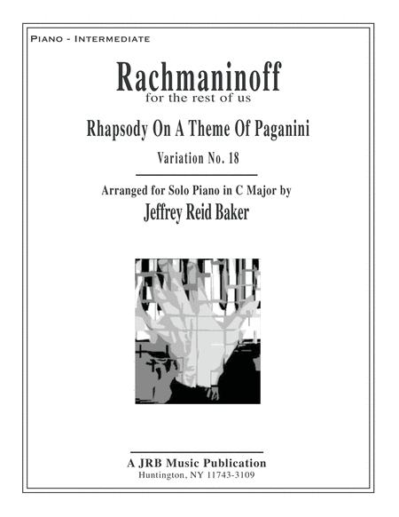 Variation 18 from Rachmaninoff's Rhapsody On A Theme Of Paganini