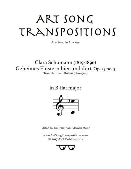 Geheimes Flüstern hier und dort, Op. 23 no. 3 (B-flat major)