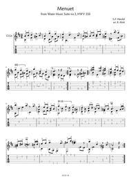 Menuet from Water Music - G.F. Händel (score + tab)