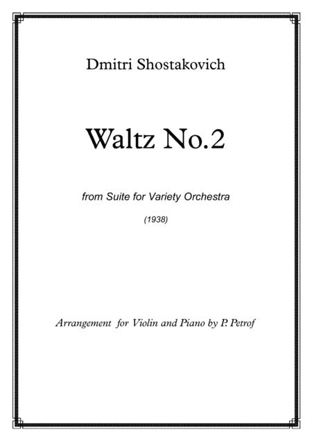 D. Shostakovich - WALTZ No.2 from Suite for Variety Orchestra - violin and piano