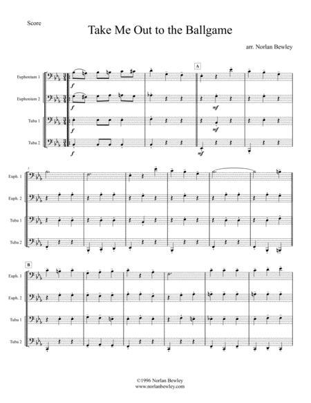 Take Me Out To The Ballgame - Tuba/Euphonium Quartet