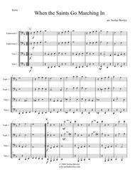 When The Saints Go Marching In - Tuba/Euphonium Quartet