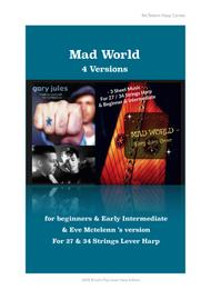 Mad World - Gary Jules Version and Cover  - Lever Harp Argt Eve McTelenn