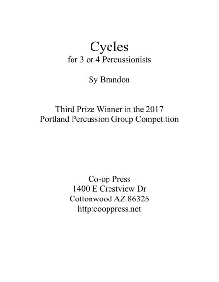 Cycles for Percussion Trio or Quartet
