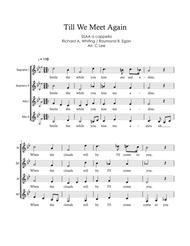 Till We Meet Again - SSAA a cappella