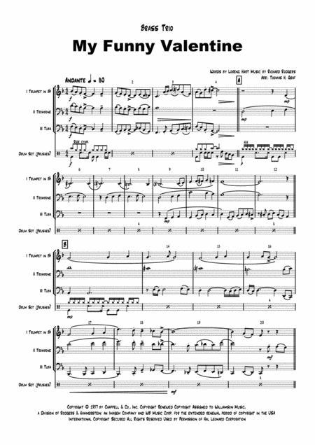 My Funny Valentine - Jazz Ballad - Brass Trio