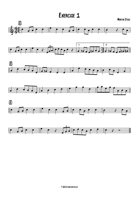 Jazz Exercise 1 easy Flute