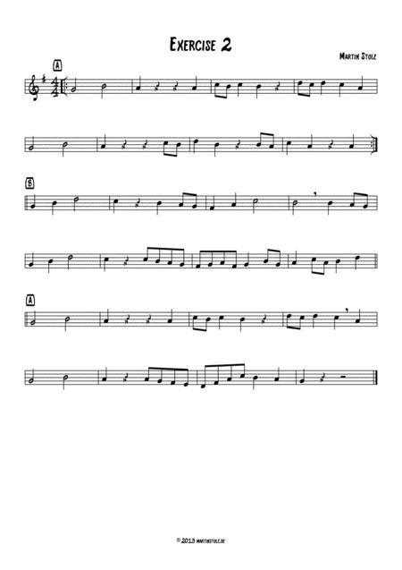 Jazz Exercise 2 easy Alto Saxophone