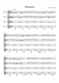 Malaguena ( Guitar Quartet )