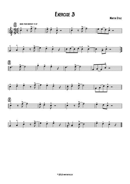 Jazz Exercise 3 Flute