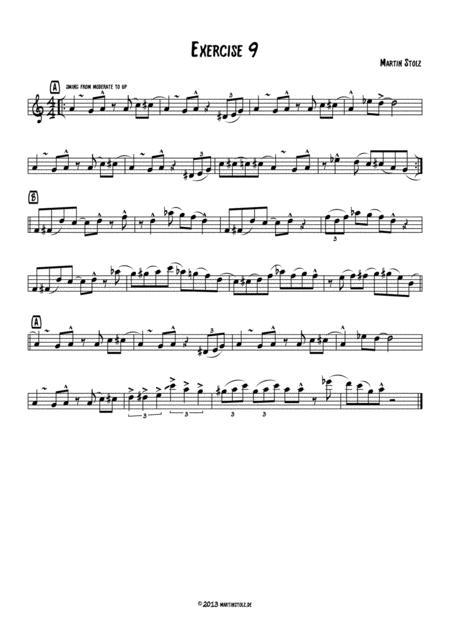Jazz Exercise 9 Alto Saxophone