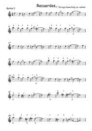 Recuerdos de la Alhambra guitar 1