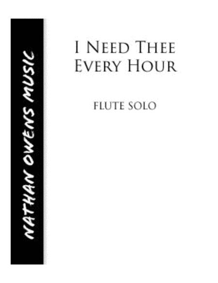 I Need Thee Every Hour - Flute/Piano