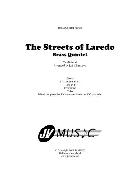 The Streets of Laredo for Brass Quintet