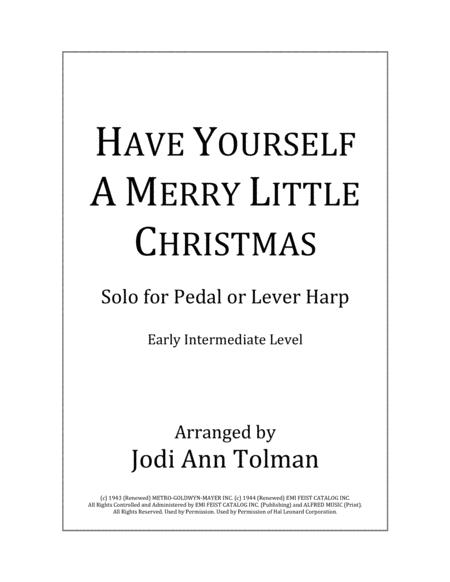 Have Yourself A Merry Little Christmas, Harp Solo