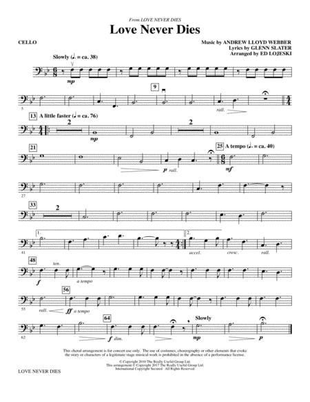 Love Never Dies - Cello