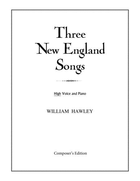 Three New England Songs (High Voice)