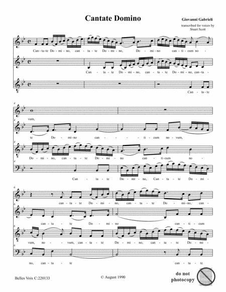 Cantate Domino (Gabrieli)