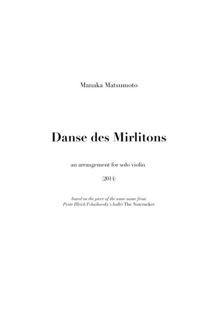 The Nutcracker: Danse des Mirlitons (arr. for solo violin)