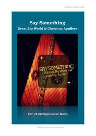 Say Something By A great Big World & Christina Aguilera - For Lever Harp - By Eve McTelenn -