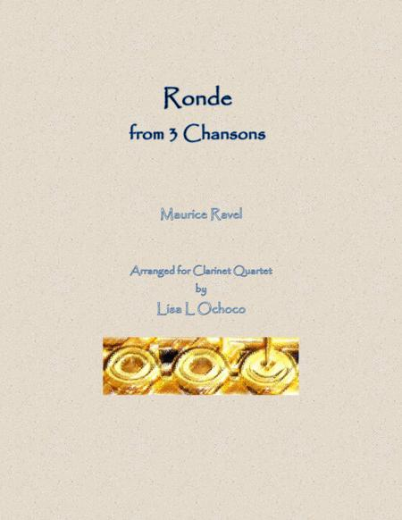 Ronde from 3 Chansons for Clarinet Quartet