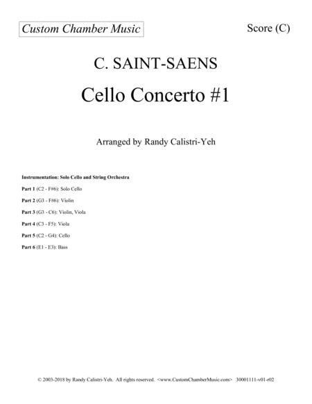 Saint-Saens Cello Concerto #1 in A minor, Op. 33 (with string orchestra)