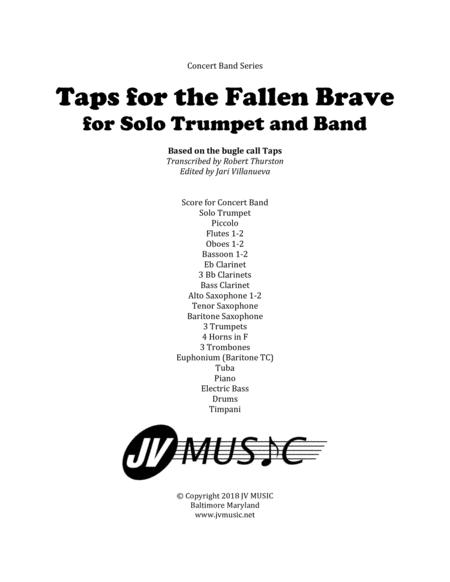 Taps for the Fallen Brave for Solo Trumpet and Band