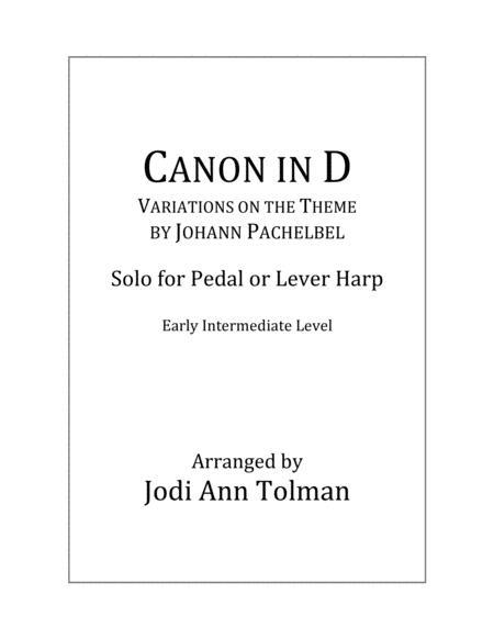 Canon in D, Harp Solo