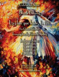 Debussy – La plus que lente (for Clarinet Quartet)