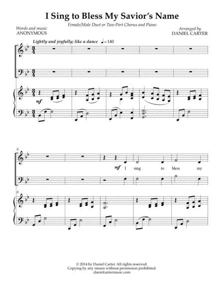 I Sing to Bless My Savior's Name