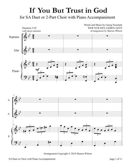 If You But Trust in God to Guide You (for SA Duet with Piano accompaniment)