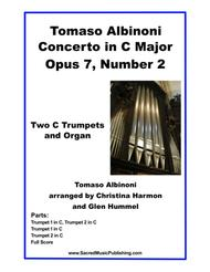 Albinoni Concerto in C Major Opus 7, Number 2 -  Two Trumpets and Organ