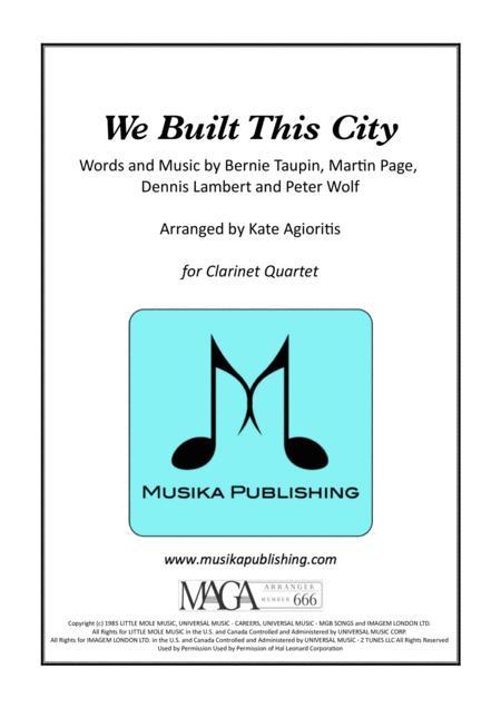 We Built This City (Starship) - Clarinet Quartet