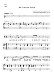 In Flanders Fields - Choir and Piano part