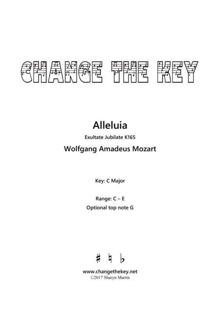 Alleluia from Exultate Jubilate - C Major