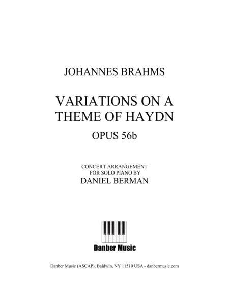 Brahms: Variations on a Theme of Haydn, opus 56b arr. Berman