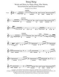 Download Bang Bang Violin Sheet Music By Jessie J Ariana